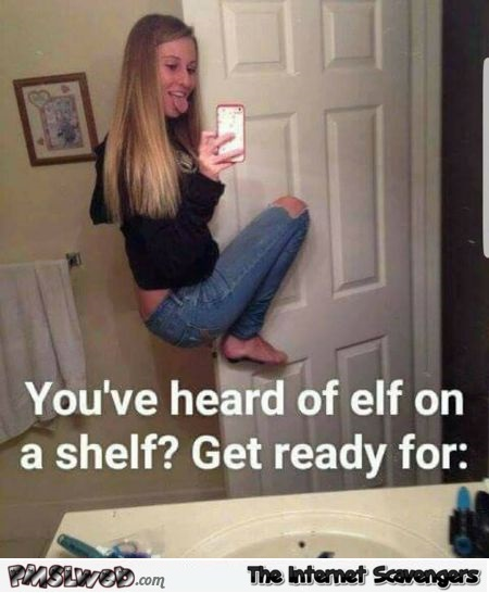 You've heard of elf on a shelf funny meme