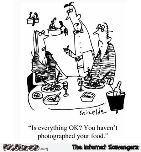 Eating at the restaurant these days funny comic @PMSLweb.com