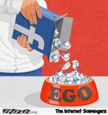 Feeding your ego on Facebook humor
