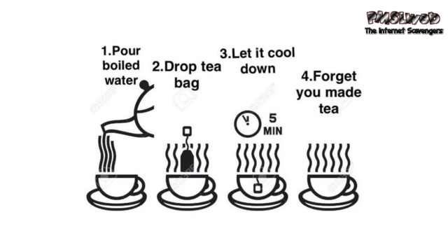Guide to making tea humor @PMSLweb.com