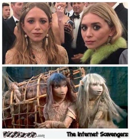 The Olsen twins played in the dark Crystal funny meme