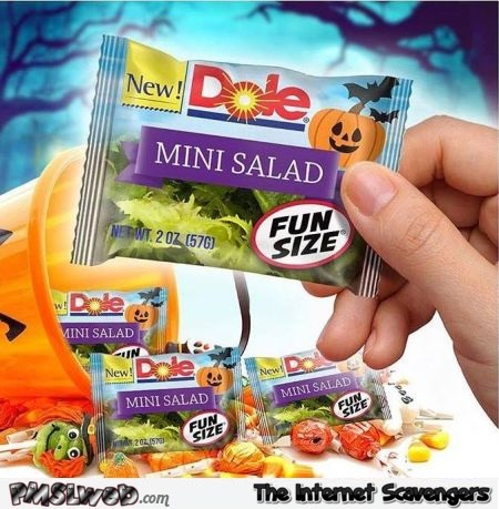 Trick or treat healthy this year funny meme - Funny Halloween pictures @PMSLweb.com