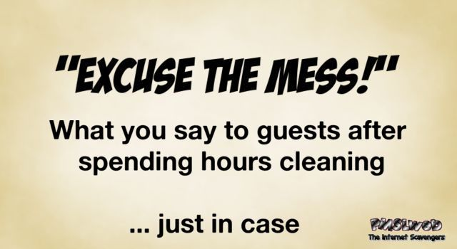 Excuse the mess funny quote @PMSLweb.com