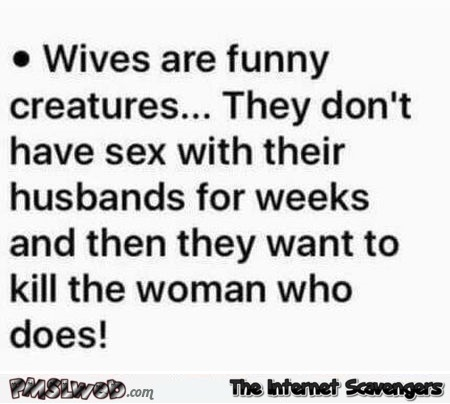 Wives are funny creatures funny quote @PMSLweb.com
