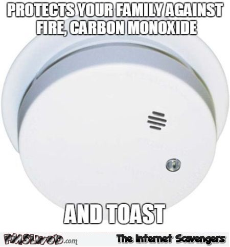Funny smoke detector meme - Funny Thursday memes and pics @PMSLweb.com