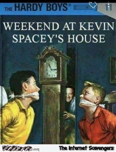 The Hardy boys and Kevin Spacey funny inappropriate book cover @PMSLweb.com