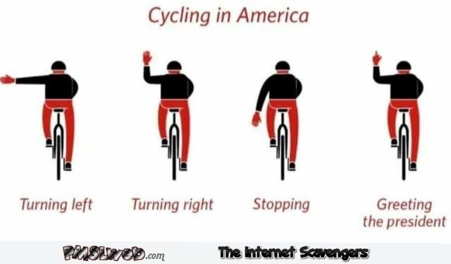 Cycling in America funny sarcastic guide @PMSLweb.com
