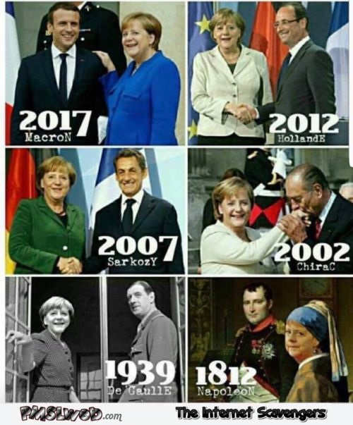 Angela Merkel is timeless funny meme @PMSLweb.com