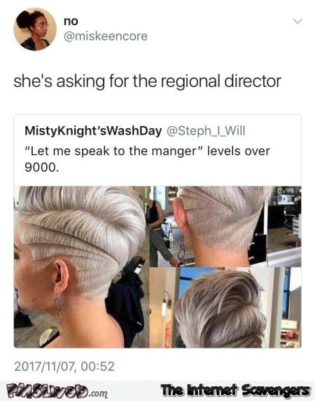 The mom who asks for the regional director funny tweet @PMSLweb.com