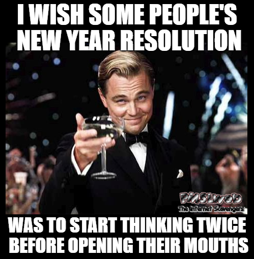 I wish some people's New Year resolution was sarcastic meme @PMSLweb.com