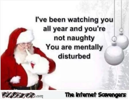 Santa has been watching you funny sarcastic meme @PMSLweb.com