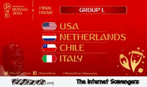 Russia 2018 final draw group L humor @PMSLweb.com