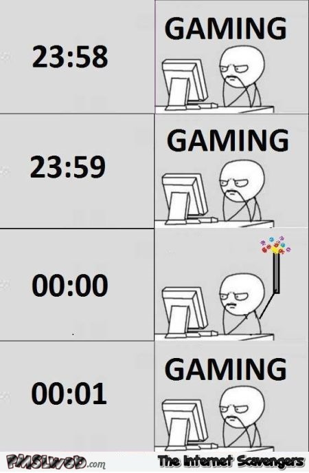 Gamers New Year funny meme - Funny New Year memes and pics @PMSLweb.com