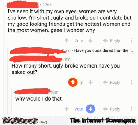Women are very shallow funny social media fail @PMSLweb.com
