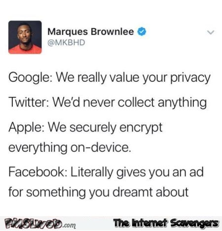 Funny Internet privacy tweet @PMSLweb.com