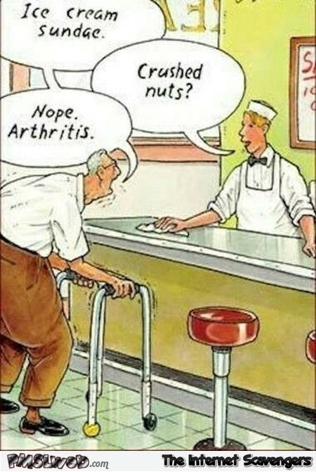 Funny arthritis adult cartoon - Naughty memes and pics @PMSLweb.com