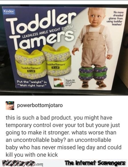 Funny toddler tamers product comment - Funny social media posts and comments @PMSLweb.com
