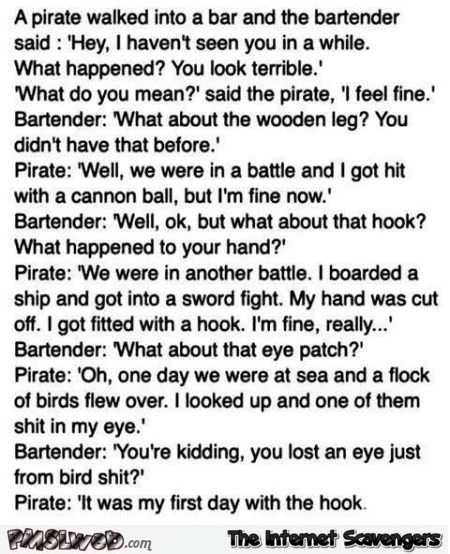 Funny pirate joke - LMAO memes and pics @PMSLweb.com
