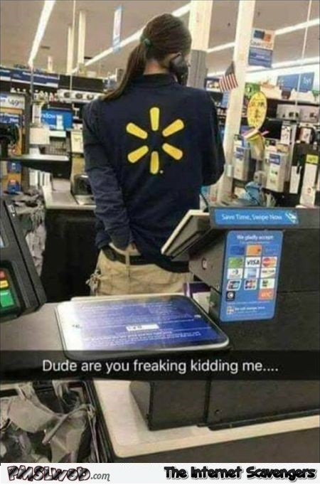 Walmart cashier caught scratching his ass funny meme