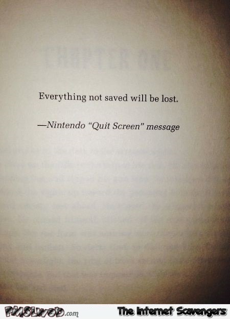 Funny Nintendo book quote