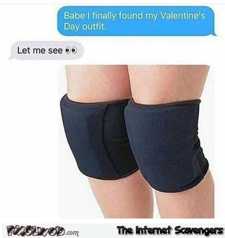 The perfect Valentine's day outfit adult humor