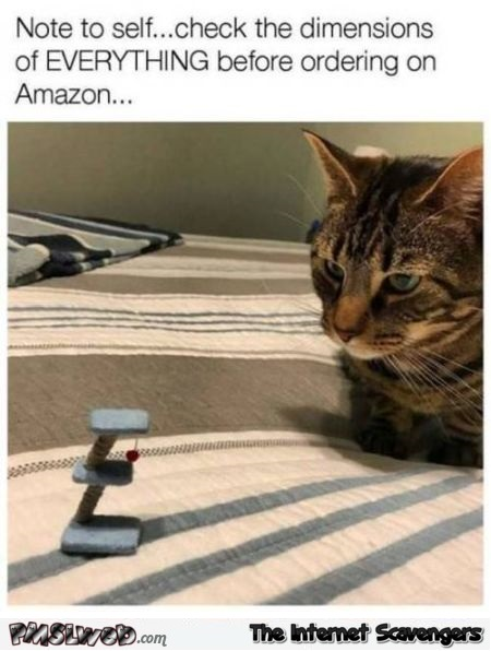 Check the dimensions of everything before ordering on Amazon funny meme @PMSLweb.com