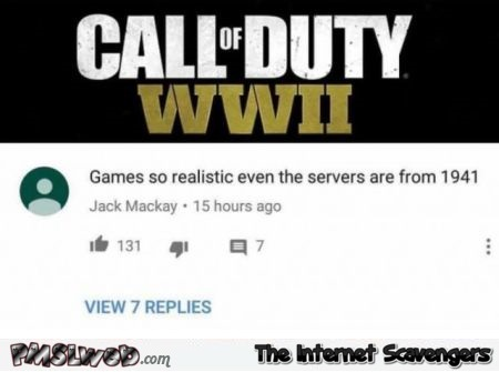 Funny call fo duty servers comment @PMSLweb.com