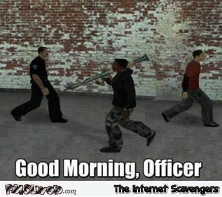 Walking around in GTA like funny meme - Funny video gaming picture collection @PMSLweb.com