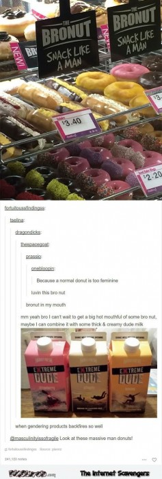 Gendering products backfire on Tumblr humor