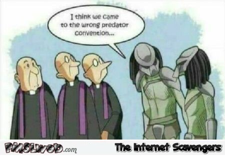 We came to the wrong predator convention funny cartoon @PMSLweb.com