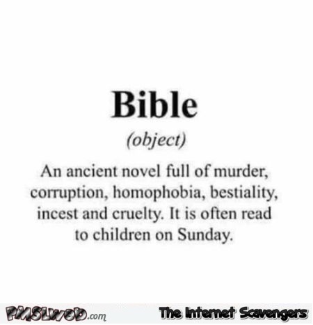 Funny sarcastic bible definition @PMSLweb.com