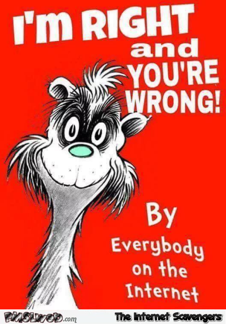 Funny sarcastic I'm right and you're wrong book cover @PMSLweb.com