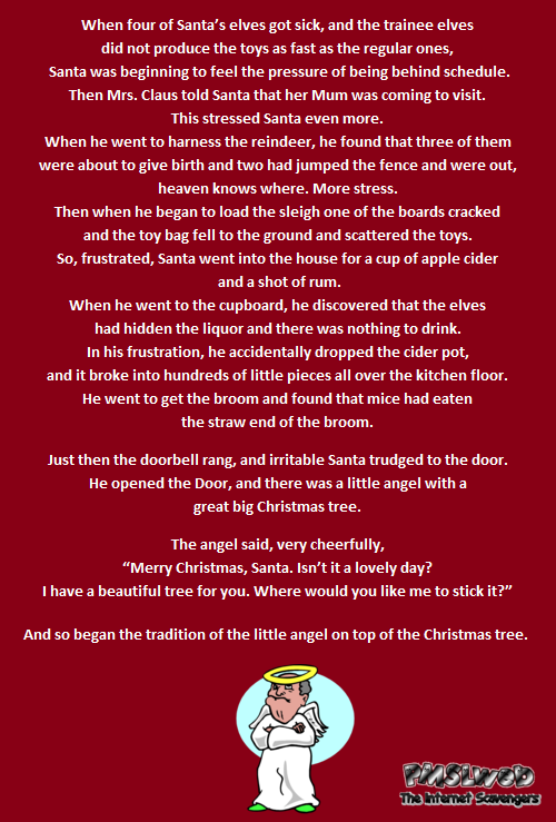 Funny Naughty Christmas joke - Funny dirty jokes @PMSLweb.com