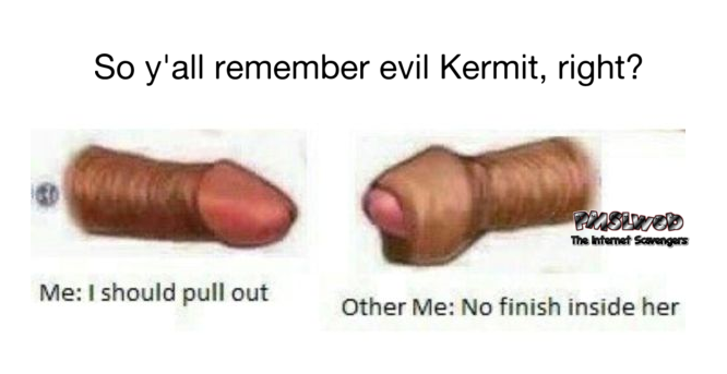 The adult version of evil kermit funny adult meme