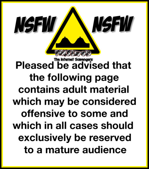 Funny adult content warning