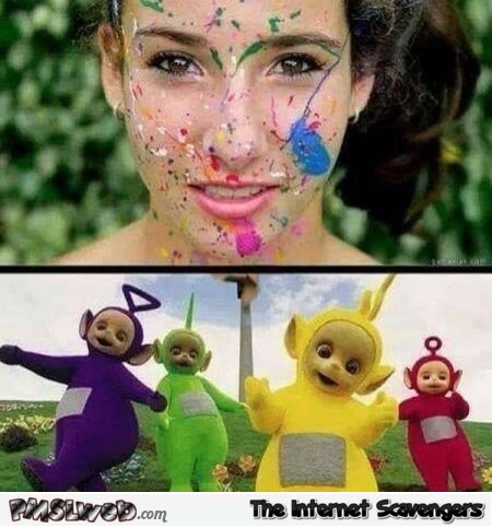 When the teletubbies cum on you adult humor @PMSLweb.com