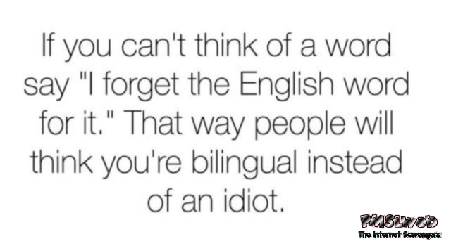 Make people believe you're bilingual humor - LMAO pics collection @PMSLweb.com