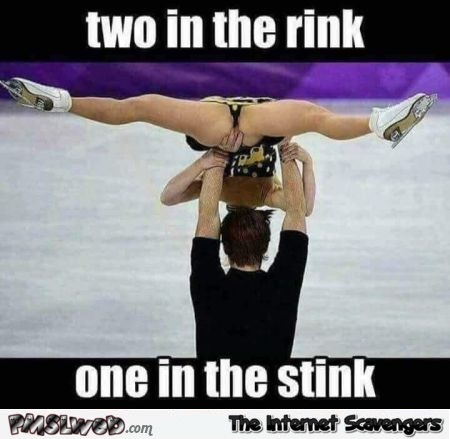 Funny ice skating adult meme
