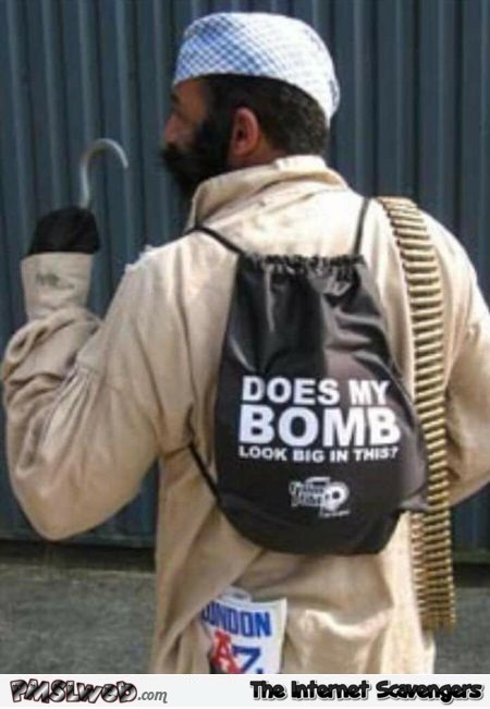 Does my bomb look big in this inappropriate humor @PMSLweb.com