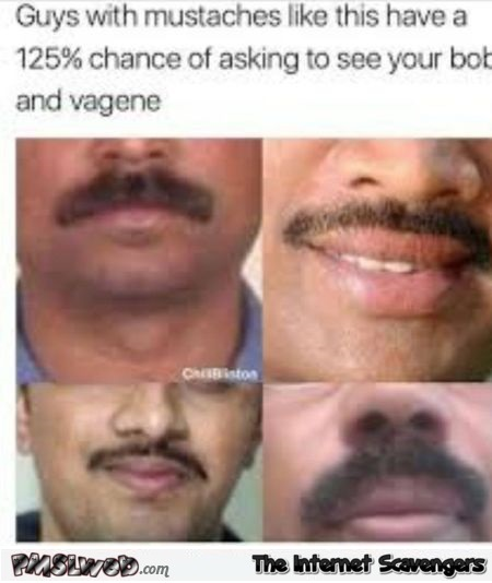 Funny adult Indian mustache meme