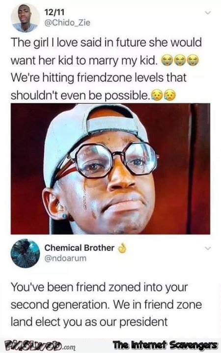 The friendzone has elected you president funny post @PMSLweb.com