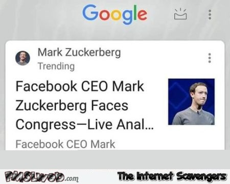 Zuckerberg trending on Google funny fail - Daily memes and funny pics @PMSLweb.com