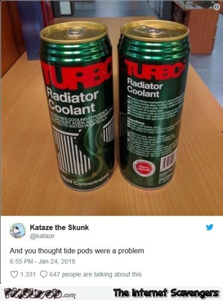 And you thought tide pods were a problem funny post @PMSLweb.com