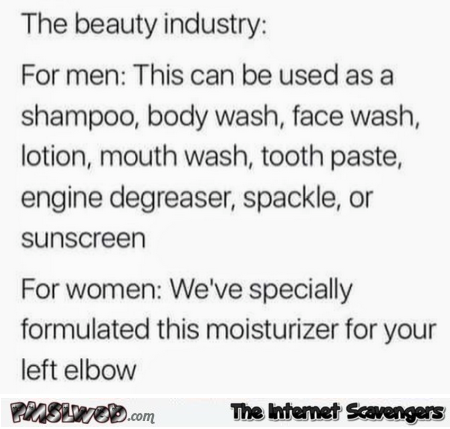Beauty industry humor @PMSLweb.com