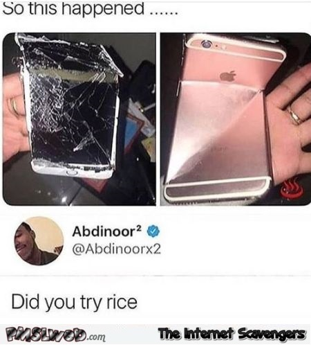 Did you try rice funny comment @PMSLweb.com