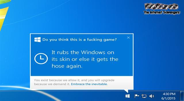 Funny sarcastic Windows update @PMSLweb.com