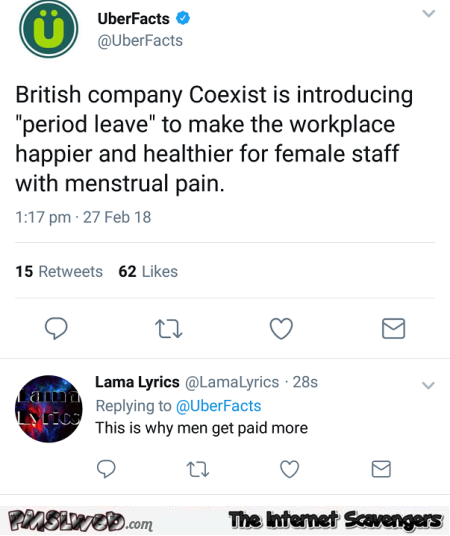 Company is introducing period leave funny comment @PMSLweb.com