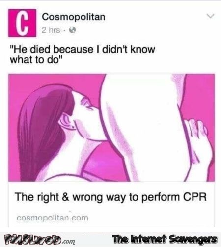The right and wrong way to perform CPR adult humor @PMSLweb.com