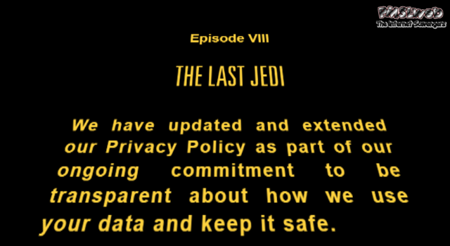 Funny Star Wars privacy policy update - LMAO memes and pictures @PMSLweb.com
