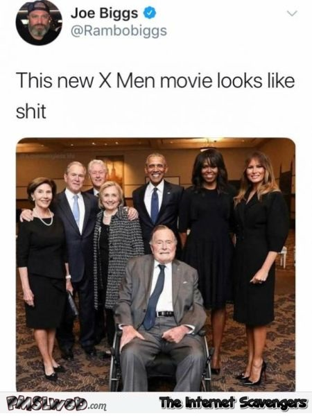 New X-Men movie looks like shit funny tweet @PMSLweb.com